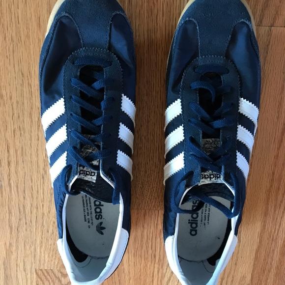 niska cena wyprzedaż w sprzedaży stabilna jakość Men's adidas SL 72 navy white shoes 9.5
